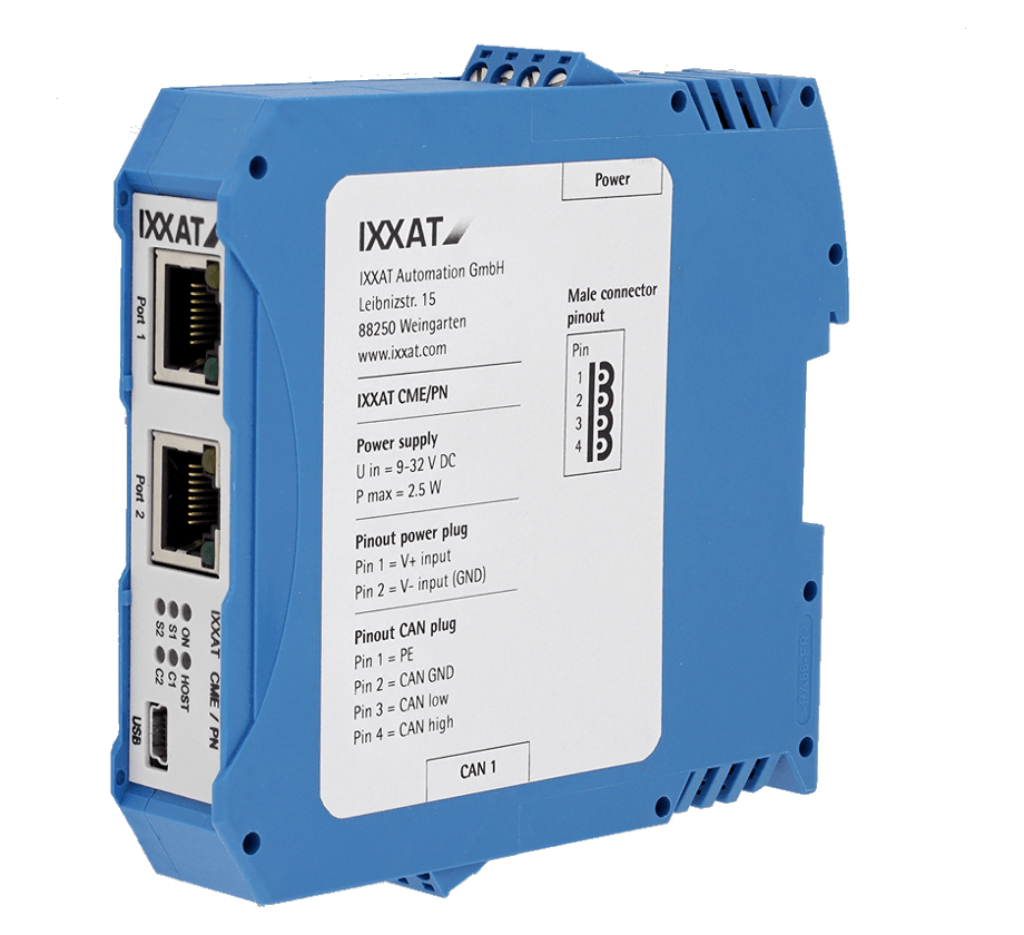 Ixxat CME/PN CAN-to-PROFINET