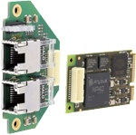 INpact Powerlink Slave Mini PCI Expressmet aansluitkabel en bus-connector print 2x RJ45
